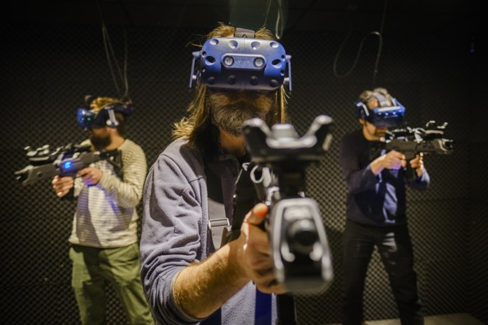 Mark in full VR-Gear